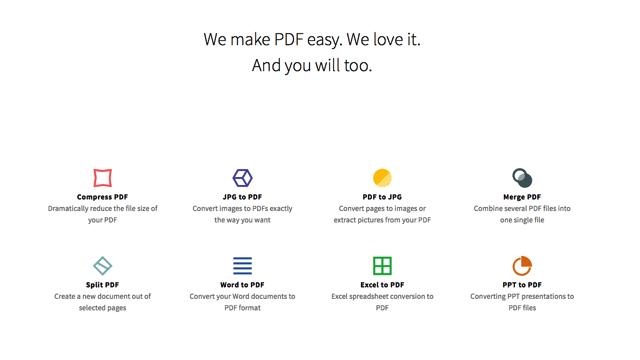 Smallpdf.com 線上 PDF 轉檔、合併、分割、壓縮工具,解決各種 PDF 疑難雜症