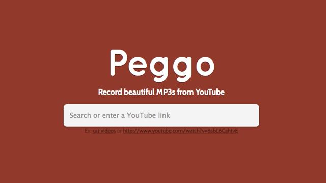 Peggo 線上將 YouTube 影片錄音,下載為 MP3 或 MP4 等格式