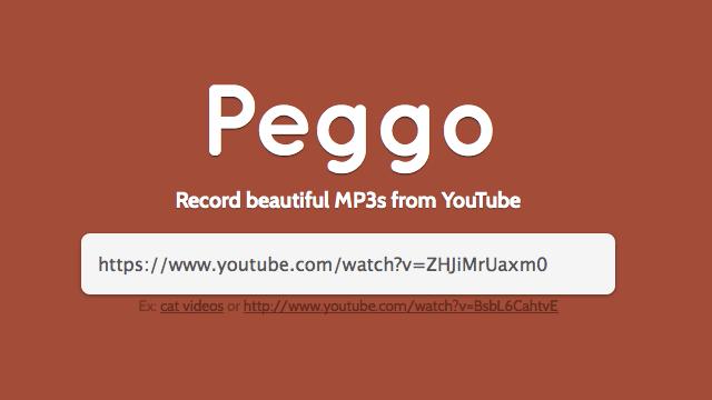 Peggo 線上將 YouTube 影片錄音,下載為 MP3 或 MP4 格式