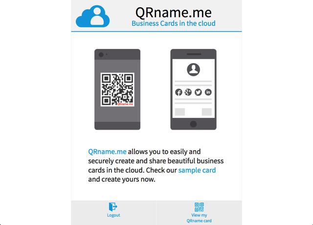 QRname.me 免費雲端名片服務,將你的名片轉為 QR Code 帶著走 via @freegroup