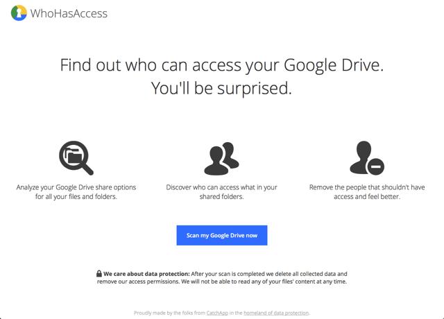 WhoHasAccess 檢查誰可以看到你 Google 雲端硬碟的檔案
