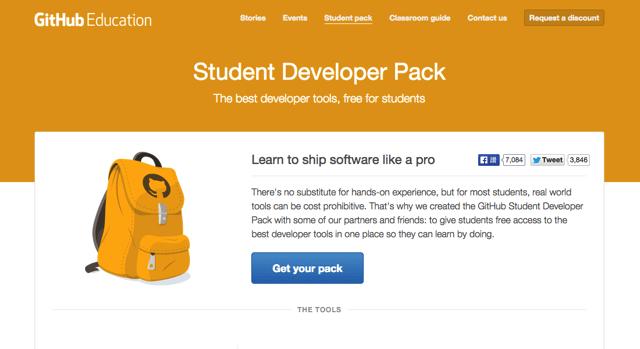 GitHub 推出「學生開發者方案」,免費索取價值數百美金的服務、軟體