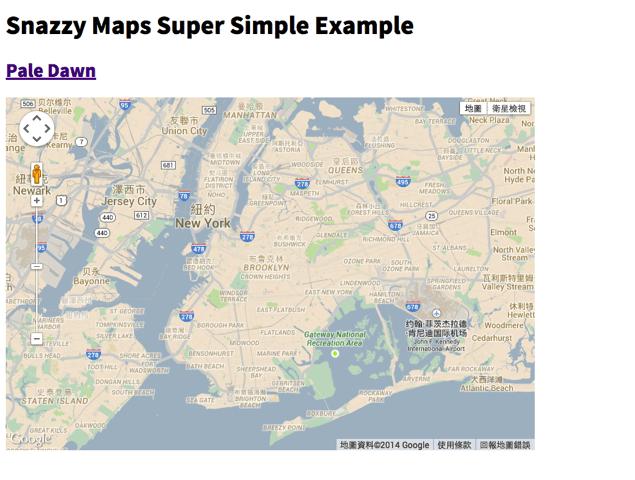 Snazzy Maps 為 Google 地圖加入不同的配色組合