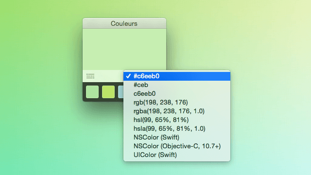 Couleurs 簡單、免費的螢幕取色工具(Mac)