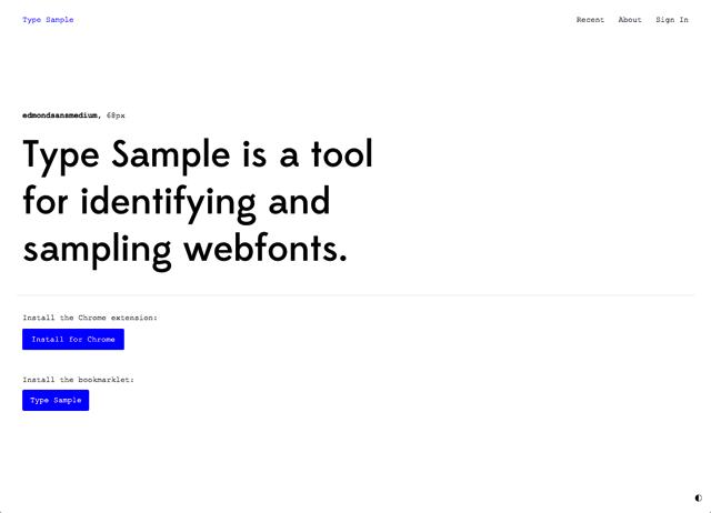 Type Sample 輕鬆查詢、辨識網頁使用的字體名稱和大小(Chrome 擴充功能)