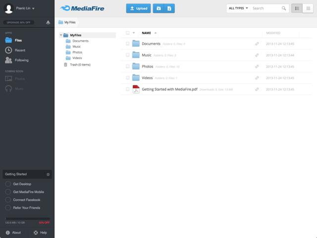 如果你需要 1 TB 容量,請選 Mediafire