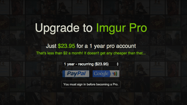 Imgur Pro 付費功能全面啟動,註冊即獲無限容量圖片上傳空間 via @freegroup