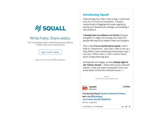 Squall 讓你的 Twitter 推文突破字數限制,推特也能當部落格使用