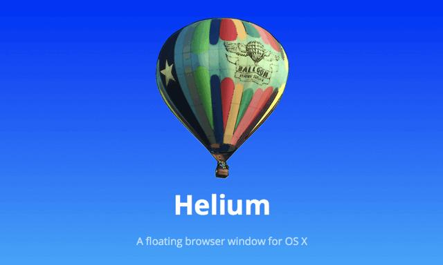 Helium 免費下載 Mac「漂浮瀏覽器」,可自由調整視窗位置、透明度