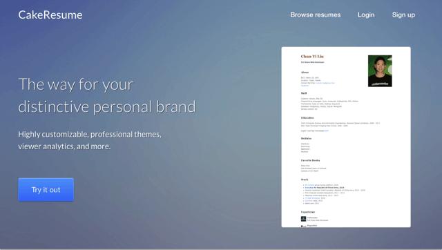 CakeResume 線上履歷表產生器,輕鬆建置高易讀性個人網頁