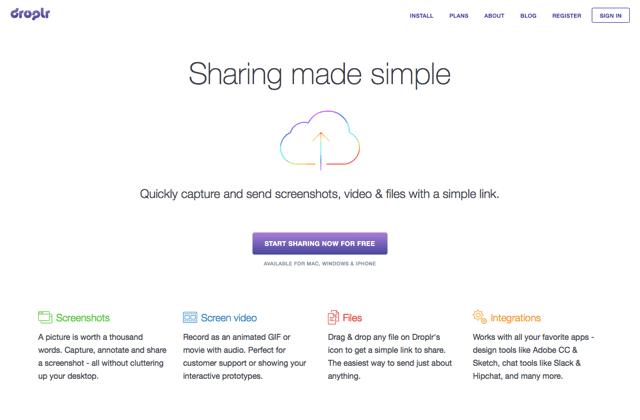 Droplr 最簡單的雲端上傳空間,無容量、檔案大小限制