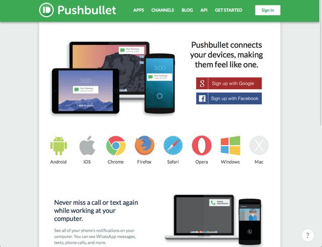 Pushbullet 在電腦、平板與手機間傳送文字、圖片、鏈結或檔案,支援 iOS、Android 等平台