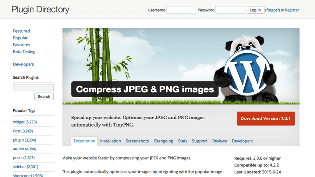 TinyPNG 也有 WordPress 圖片壓縮外掛,上傳後自動最佳化(Compress JPEG & PNG images)