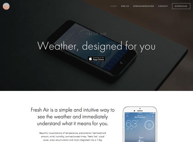 Fresh Air Weather 簡單、極具設計感天氣應用,結合手機行事曆、通知中心功能(iOS App)
