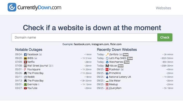 臉書掛了嗎?使用 CurrentlyDown 來檢測網站連線、近期斷線異常記錄