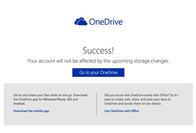 OneDrive 全面縮減容量,開啟這網頁避免你的空間被降為 5 GB!