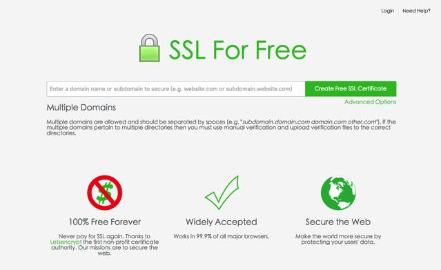 SSL For Free 免費 SSL 憑證申請,使用 Let's Encrypt 最簡單方法教學! via @freegroup