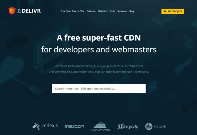 jsDelivr 免費公共 CDN 加速服務,為開發者提供數千種 JavaScript、CSS Libraries via @freegroup