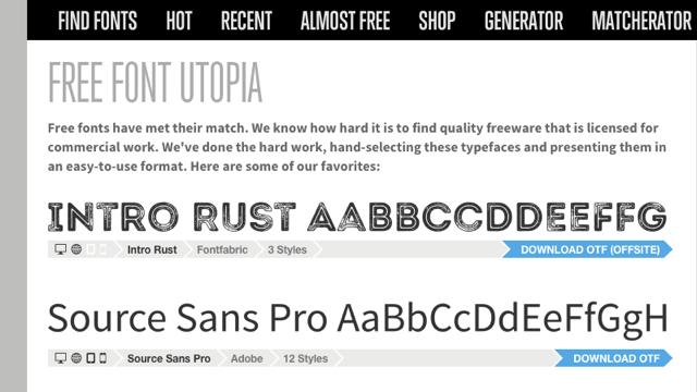 Font Squirrel 為平面設計師精心挑選 27 款免費商用字型下載 via @freegroup