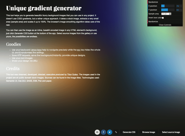 Unique Gradient Generator