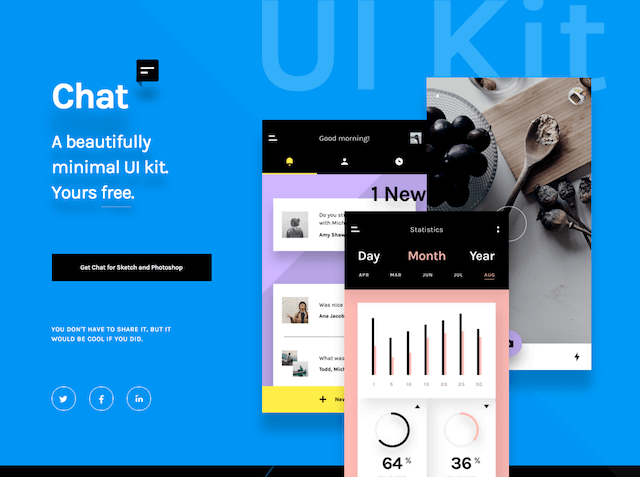 InVision 釋出「Chat」使用者介面 UI 設計包免費下載(Sketch & Photoshop)