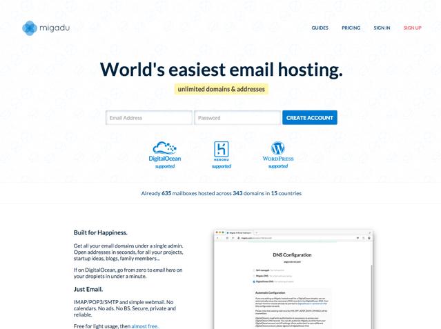 Migadu 世界最簡單可自訂網域名稱 Email 服務!支援 IMAP、POP & SMTP 收發郵件