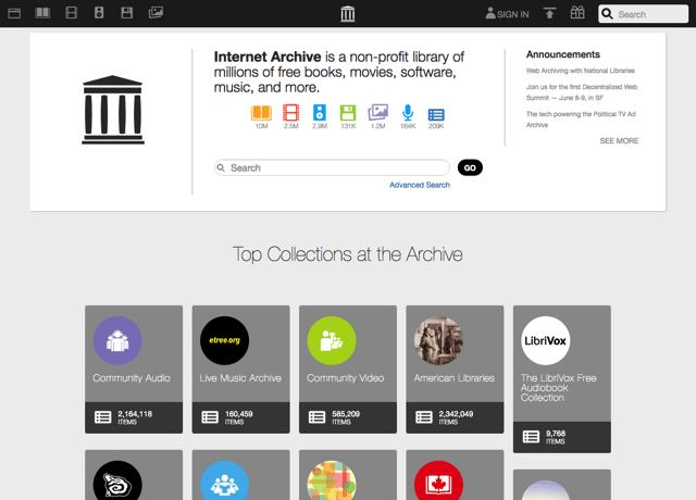 最強免空!Internet Archive 免費上傳永久託管數百萬電子書、電影、軟體和音樂
