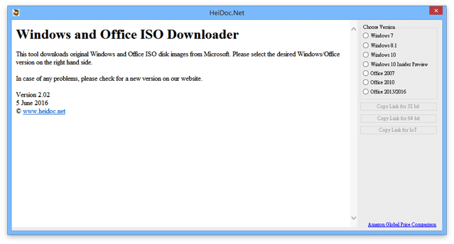 Windows and Office ISO Downloader 從微軟官方網站免費下載 Windows、Office 安裝程式