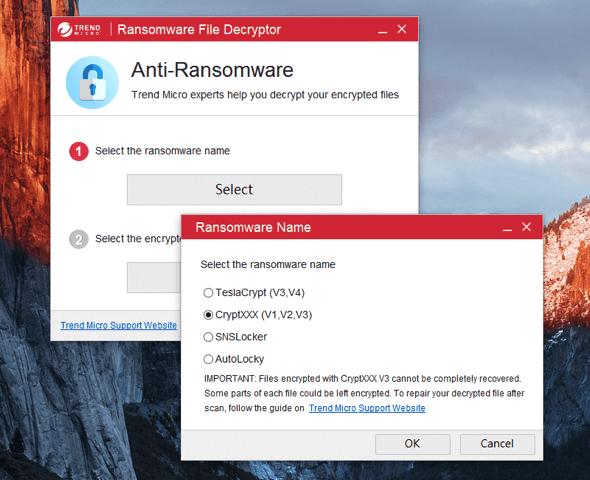 Trend Micro Ransomware File Decryptor 趨勢科技免費勒索病毒破解復原工具