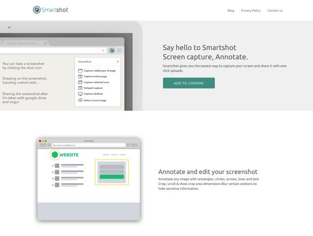 Smartshot 整合網頁截圖、編輯及自動上傳,最流暢擷圖外掛推薦