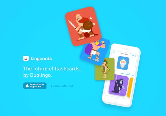 Tinycards 學習平台 Duolingo 推出單字卡 App,手機背單字長知識超好用