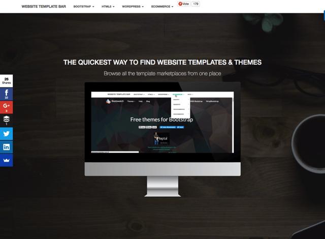 Website Template Bar 收錄各大免費網站模板、佈景主題一頁瀏覽