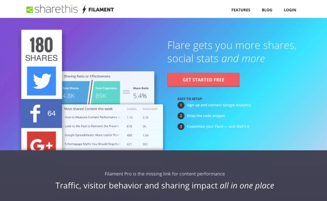 Filament 免費社群按鈕服務,多種樣式整合分析數據可顯示分享次數