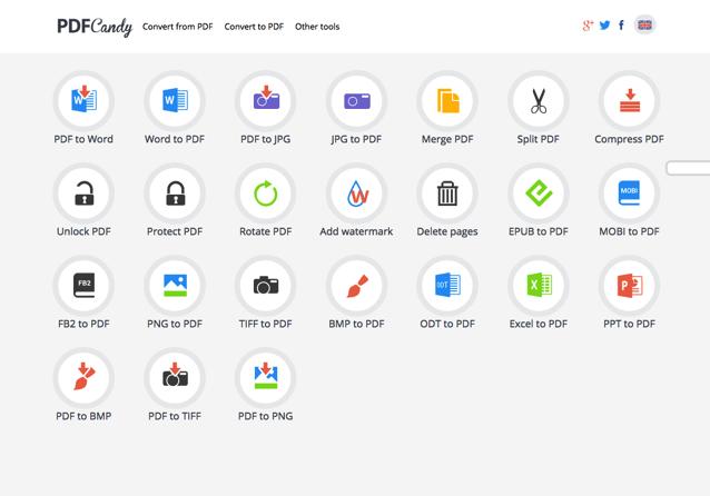 PDF Candy 免費 PDF 線上工具,整合轉檔、密碼破解等各種常見功能