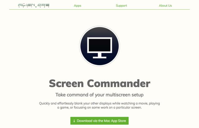 Screen Commander 在看電影、玩遊戲時快速關閉用不到的螢幕,雙螢幕多螢幕必備!(Mac) via @freegroup