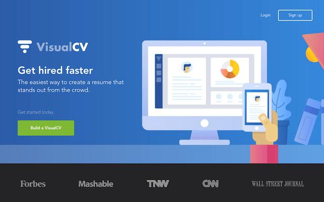 VisualCV 免費線上履歷表平台,幫你建立更美觀的個人簡介頁面