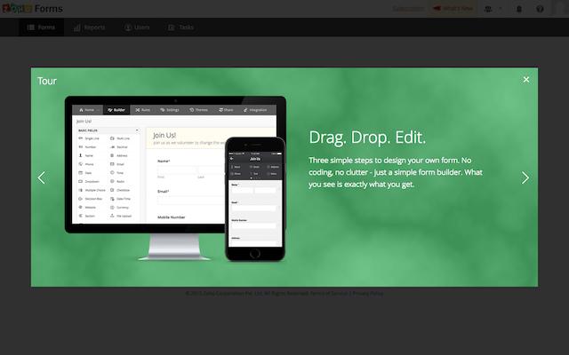 Zoho Forms 免費製作線上表單,利用拖曳方式快速設定各種欄位規則