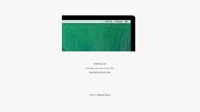Vanilla 自動隱藏 Mac 系統列用不到的圖示,需要時展開重新顯示 via @freegroup