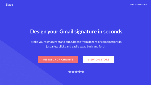 Blade - Signatures for Gmail