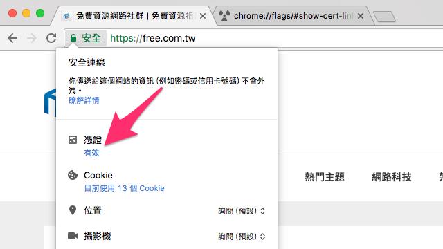 Show Certificate Link