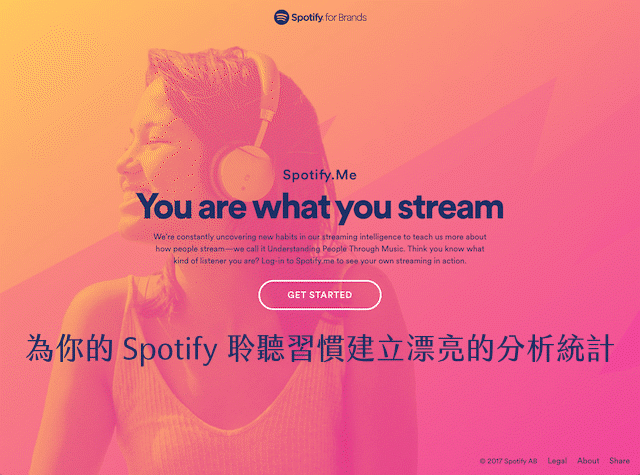 Spotify.Me 為你的 Spotify 聆聽習慣建立漂亮分析統計圖,客製化播放清單
