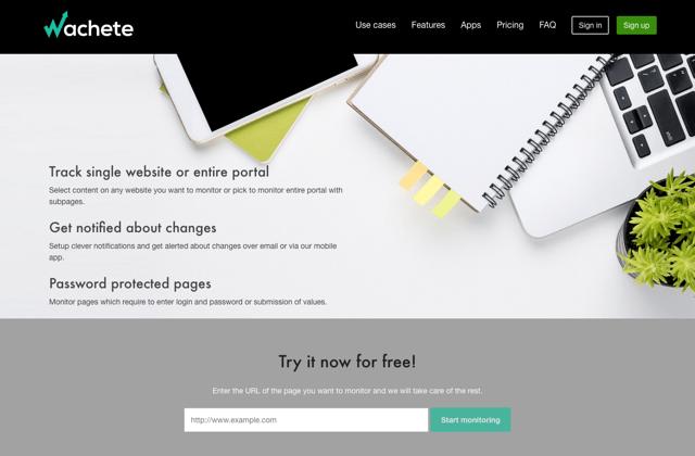 Wachete 監測網頁內容變化發送 Email 通知,可追蹤價格和 HTML 原始碼