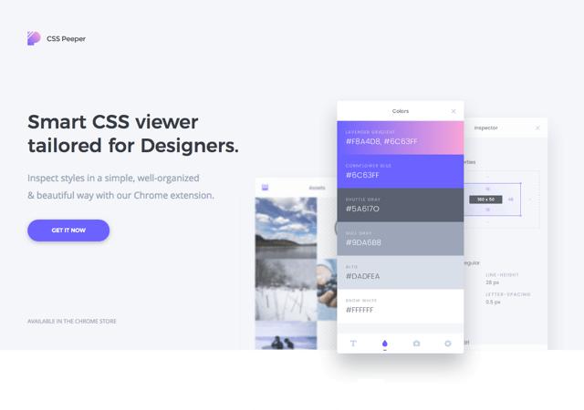 CSSPeeper 為設計師量身打造,更聰明視覺化檢視網站 CSS 樣式表(Chrome 擴充功能)