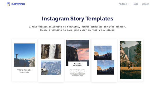 Instagram Story Templates 製作 IG 相片拼貼,讓限時動態顯示更多圖片