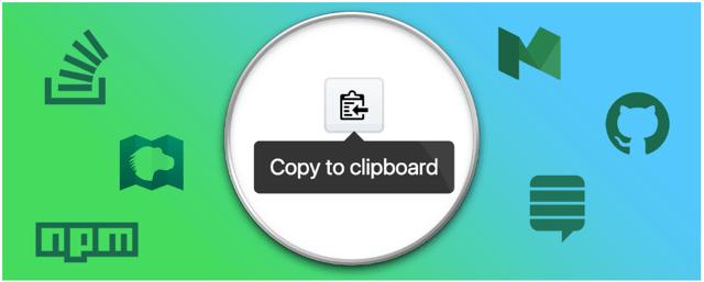 CodeCopy 在程式碼旁加一個「複製到剪貼簿」按鈕,支援 GitHub 等網站