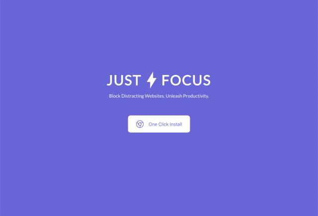Just Focus 阻擋讓你分心的網站,提高工作專注力(Chrome 擴充功能)