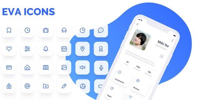 Eva Icons 超過 480 個精美免費圖示,開放原始碼可用於商業模式