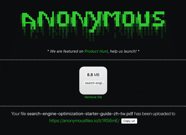 Anonymous Files