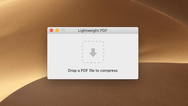 Lightweight PDF 免費文件壓縮工具,最多可將 PDF 縮小 90%(Mac)