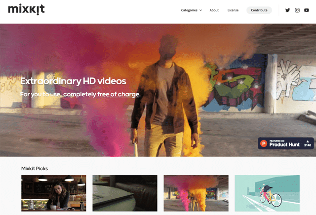 Mixkit 免費高畫質影片素材網,可自由下載使用於商業用途